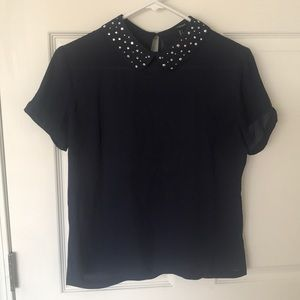 Forever 21 - Blue Collared Blouse